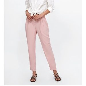(3 for $15) Light pink trousers with drawstring.